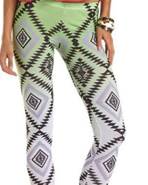 Aztec ombre print legging