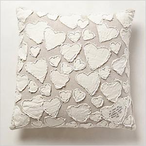Heart collector pillow