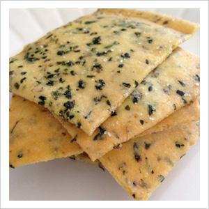 Gluten-free Italian herb crackers