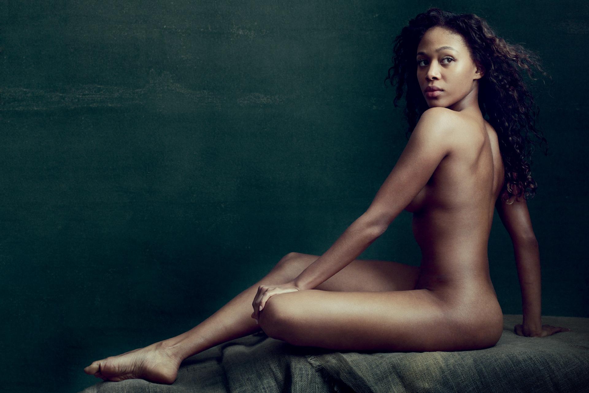 Nicole Beharie nude for Allure magazine
