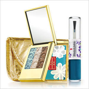 Elizabeth Arden New York in Bloom Teal Eye Shadow Trio and Lacquer Kit