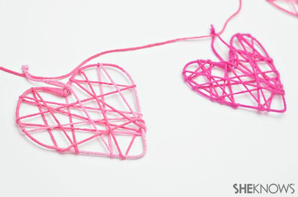 Heart garland | Sheknows.com - step 6