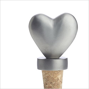 Heart bottle stopper