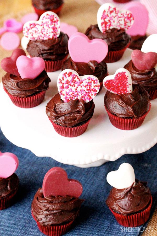 Be my Valentine mini cupcakes