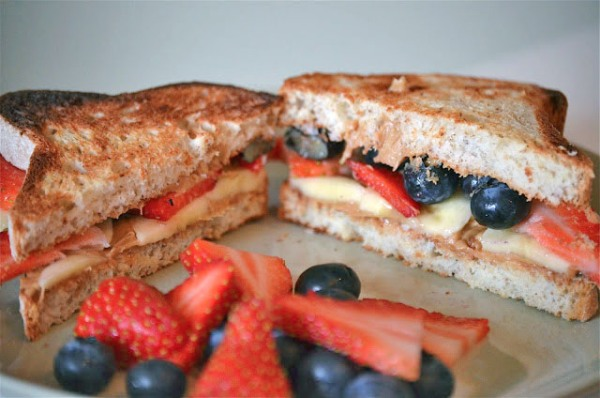 PB and Fruit sandwich