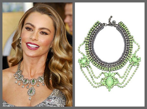 Sofia Vergara wearing a statement necklace