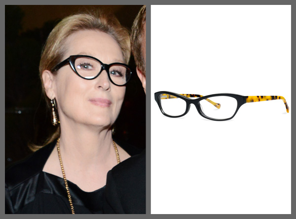 Meryl Streep wearing cat eye glasses