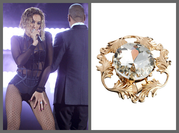 Beyonce wearing a cocktail ring