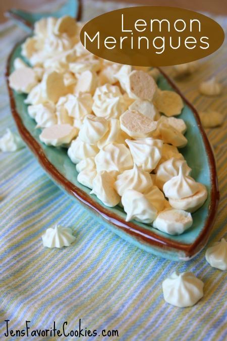 Lemon mini-meringues recipe