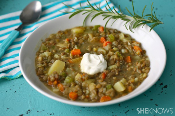Gluten-free Friday: Lentil, potato, and rosemary soup