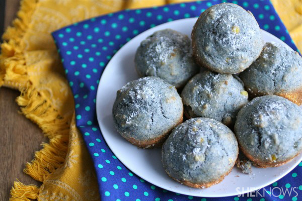 Meatless Monday: Blue cornmeal and Parmesan muffins