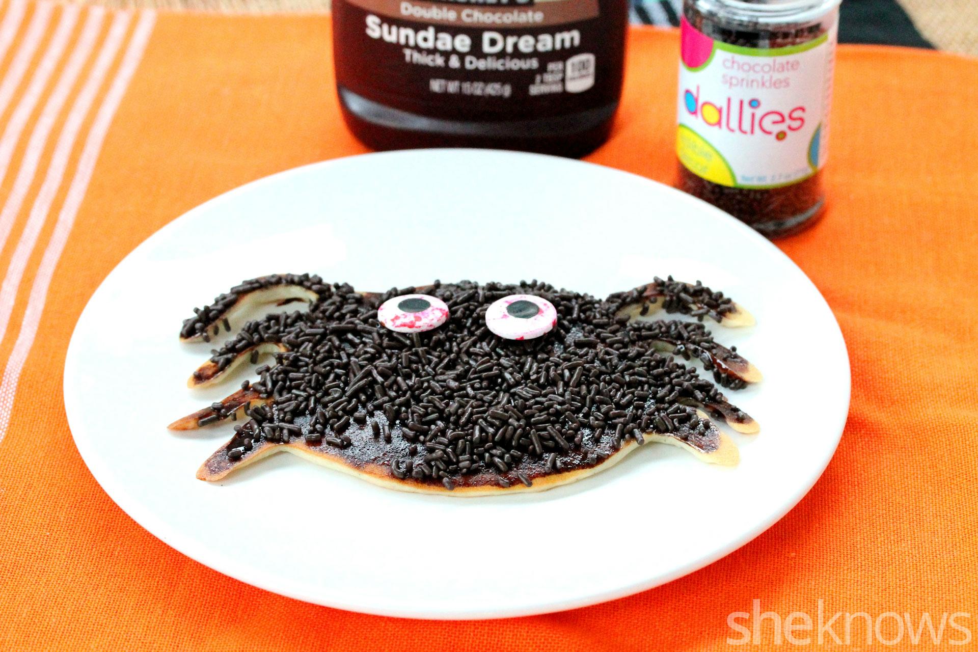 candy-spider-pancake