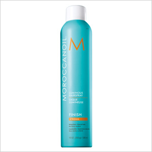Get the look: Moroccanoil Luminous Hairspray Strong (morrocanoil.com, $22)