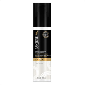Get the look: Pantene Pro-V Stylers Extra Strong Hold Non-Aerosol Hairspray (walmart.com, $5)