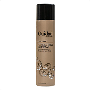 Get the look: Ouidad Curl Last Flexible Hold Hairspray (ouidad.com, $20)