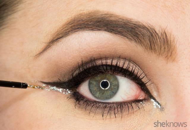 A glitter eye makeup tutorial: Step 12