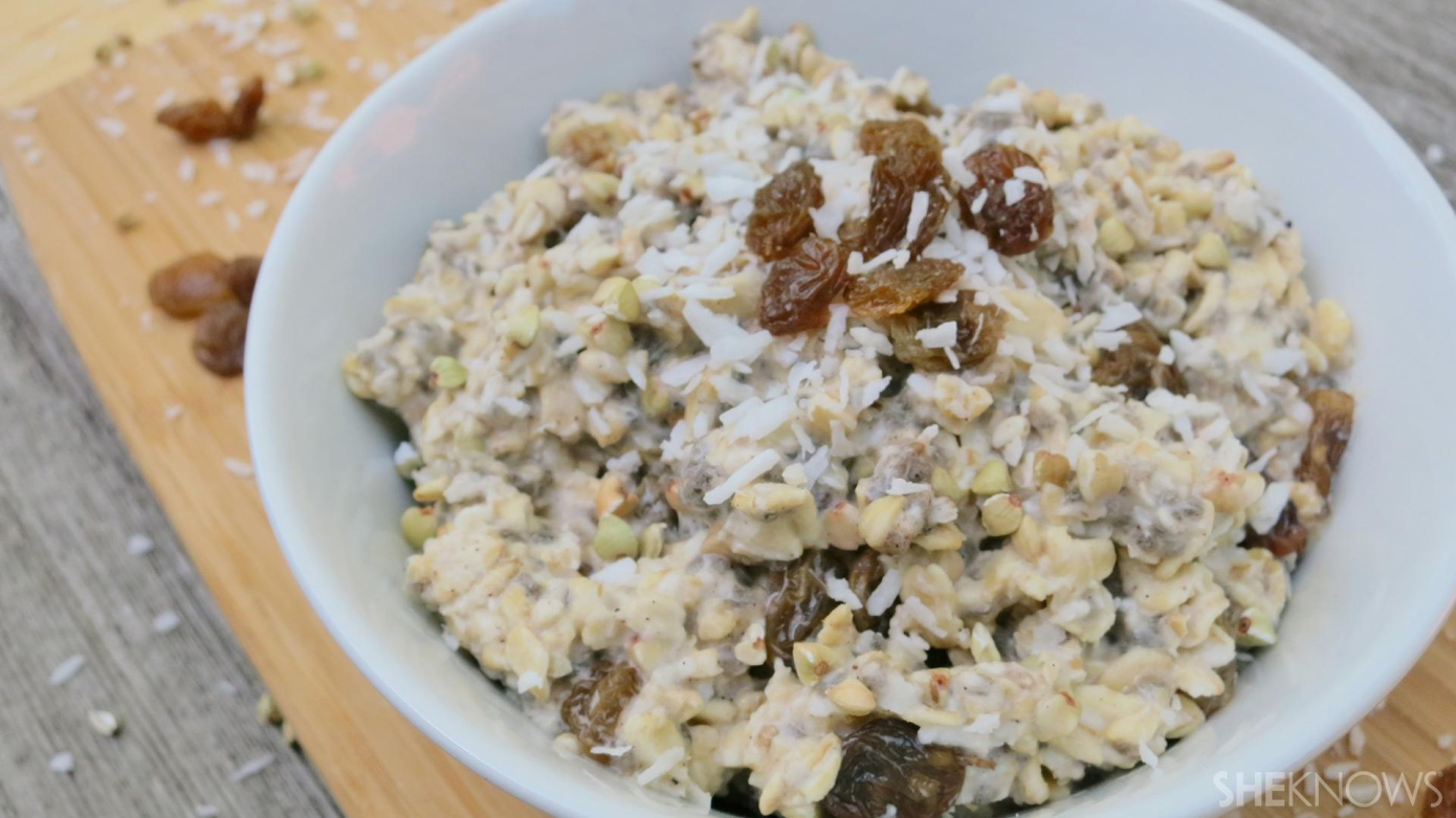 Oatmeal-raisin cookie dough overnight oats are fab for breakfast