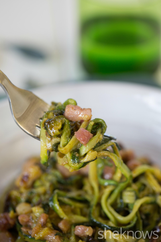 Zucchini carbonara 2