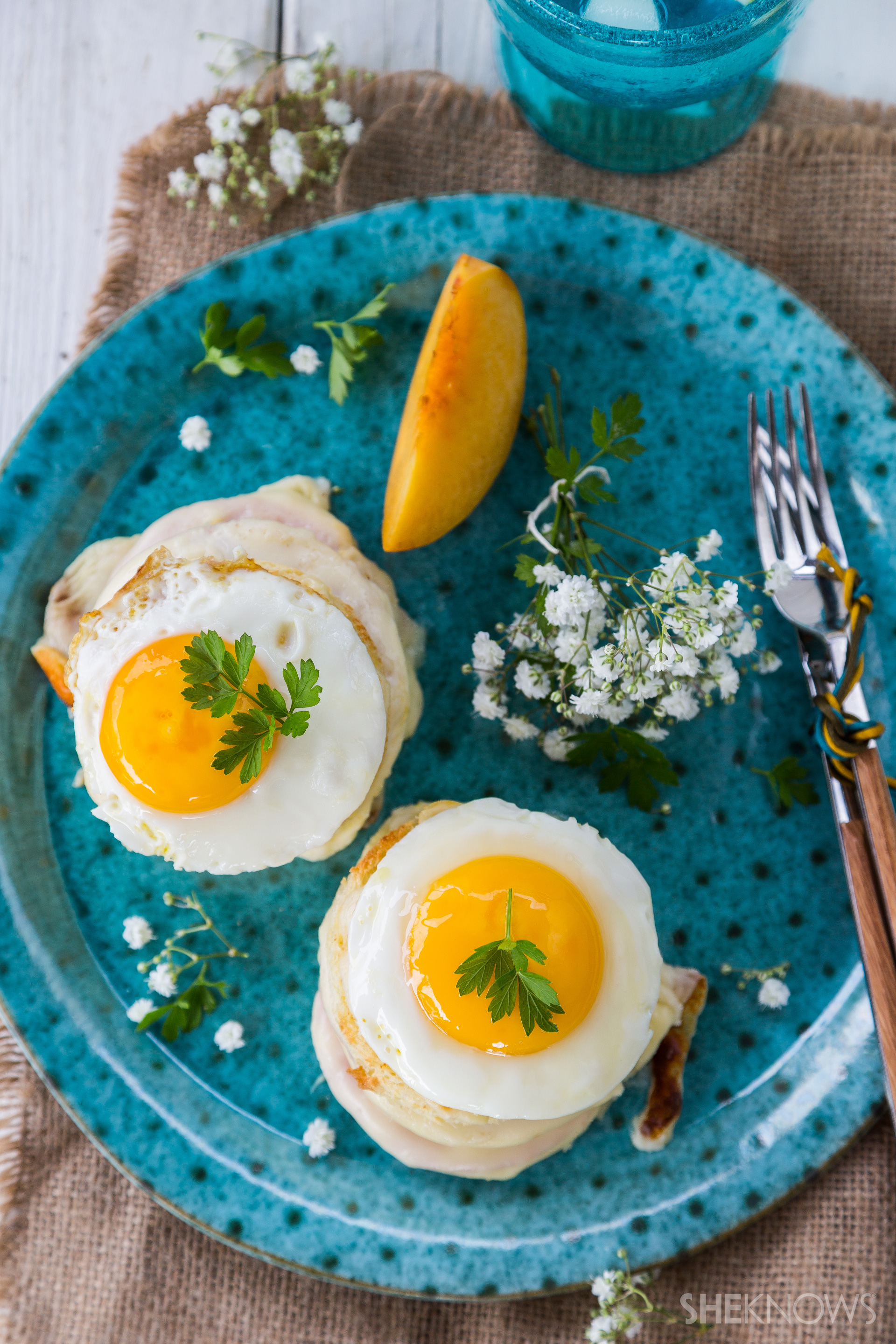 Croque madame with blue cheese recipe