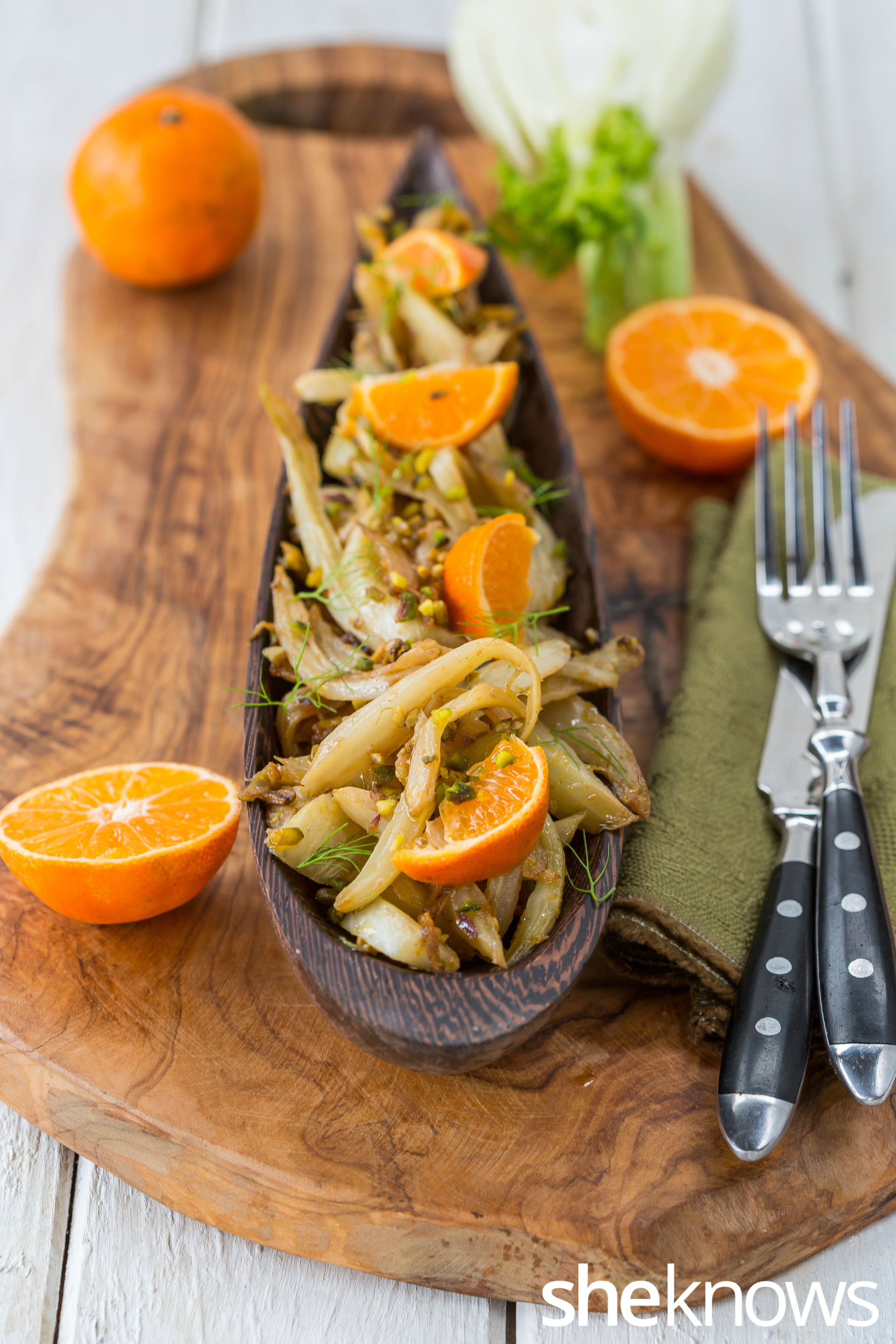 Fennel, clementines and pistachios