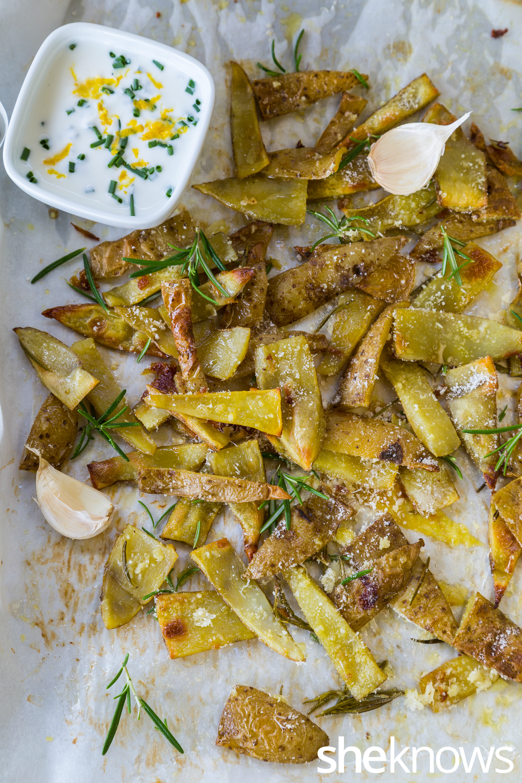 Garlic Parmesan potato skins