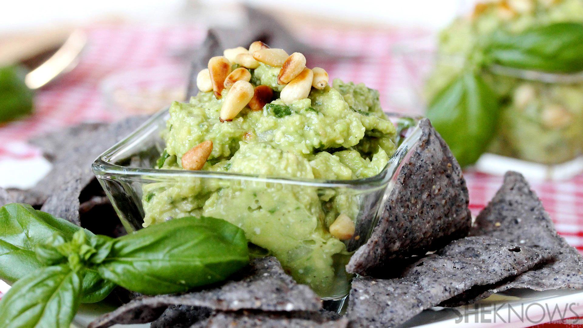 Pesto guacamole recipe