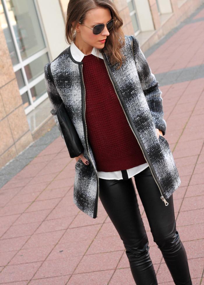 plaid jacket and leggings