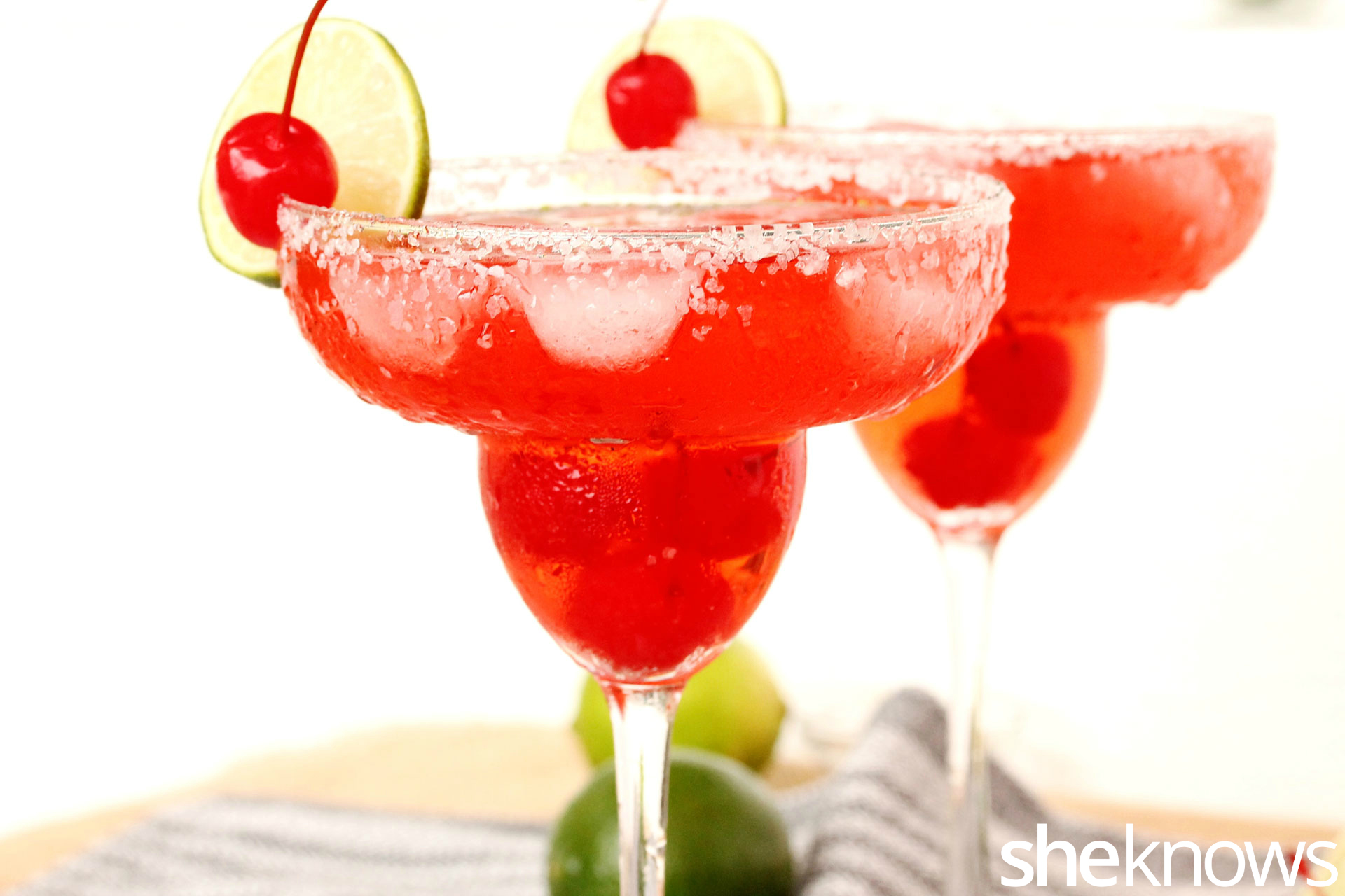 Shirley Temple Margarita with Lime