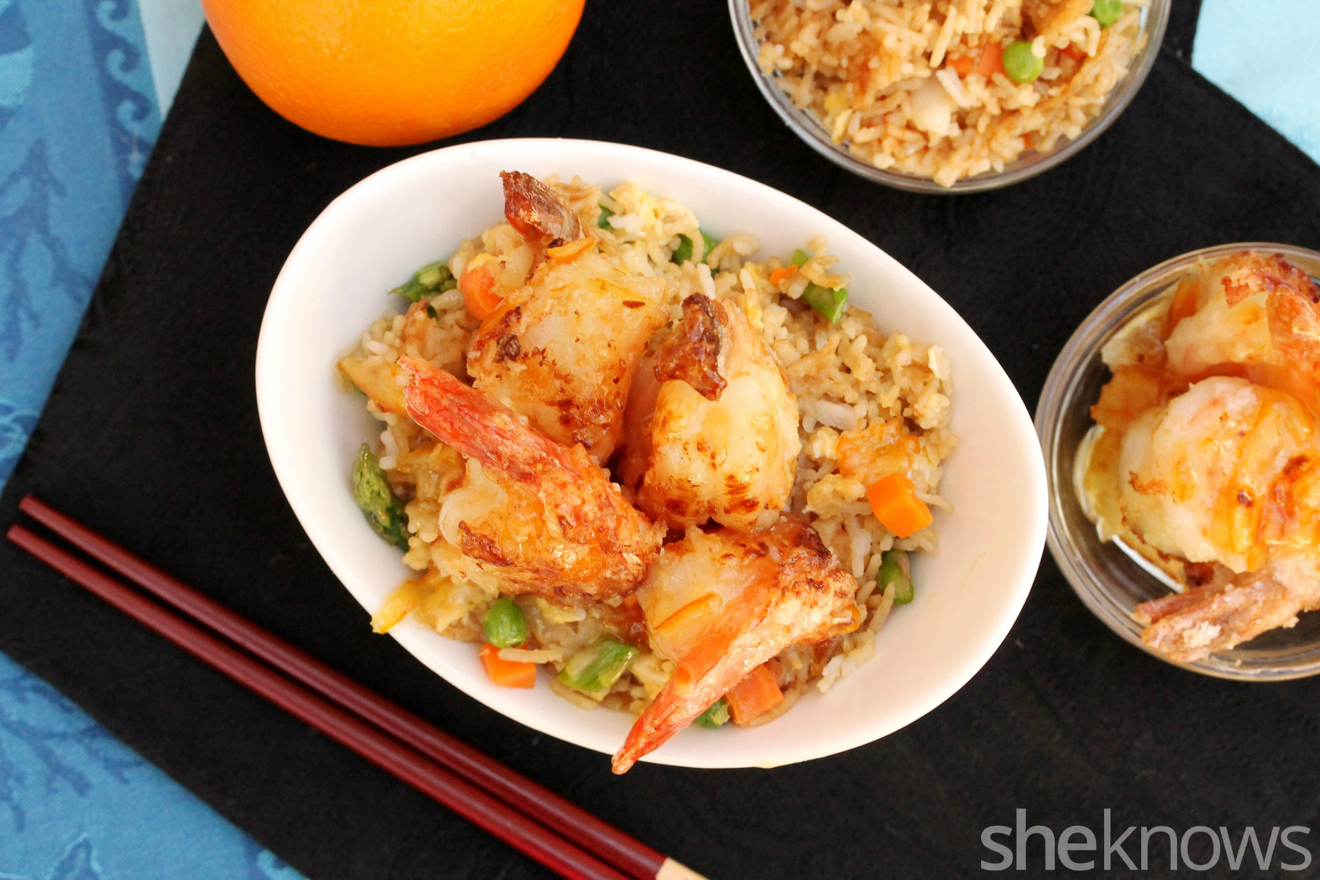 Shrimp-with-fried-rice