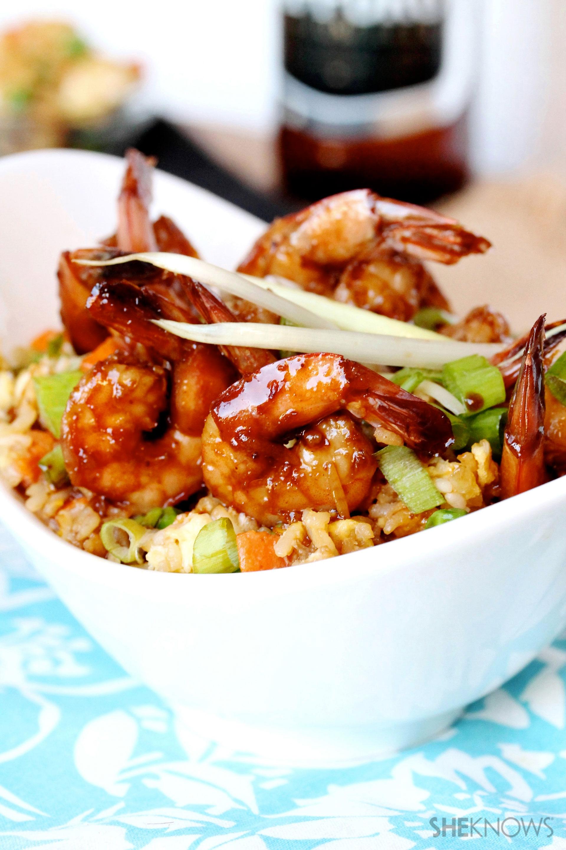 Teriyaki shrimp and fried rice recipe