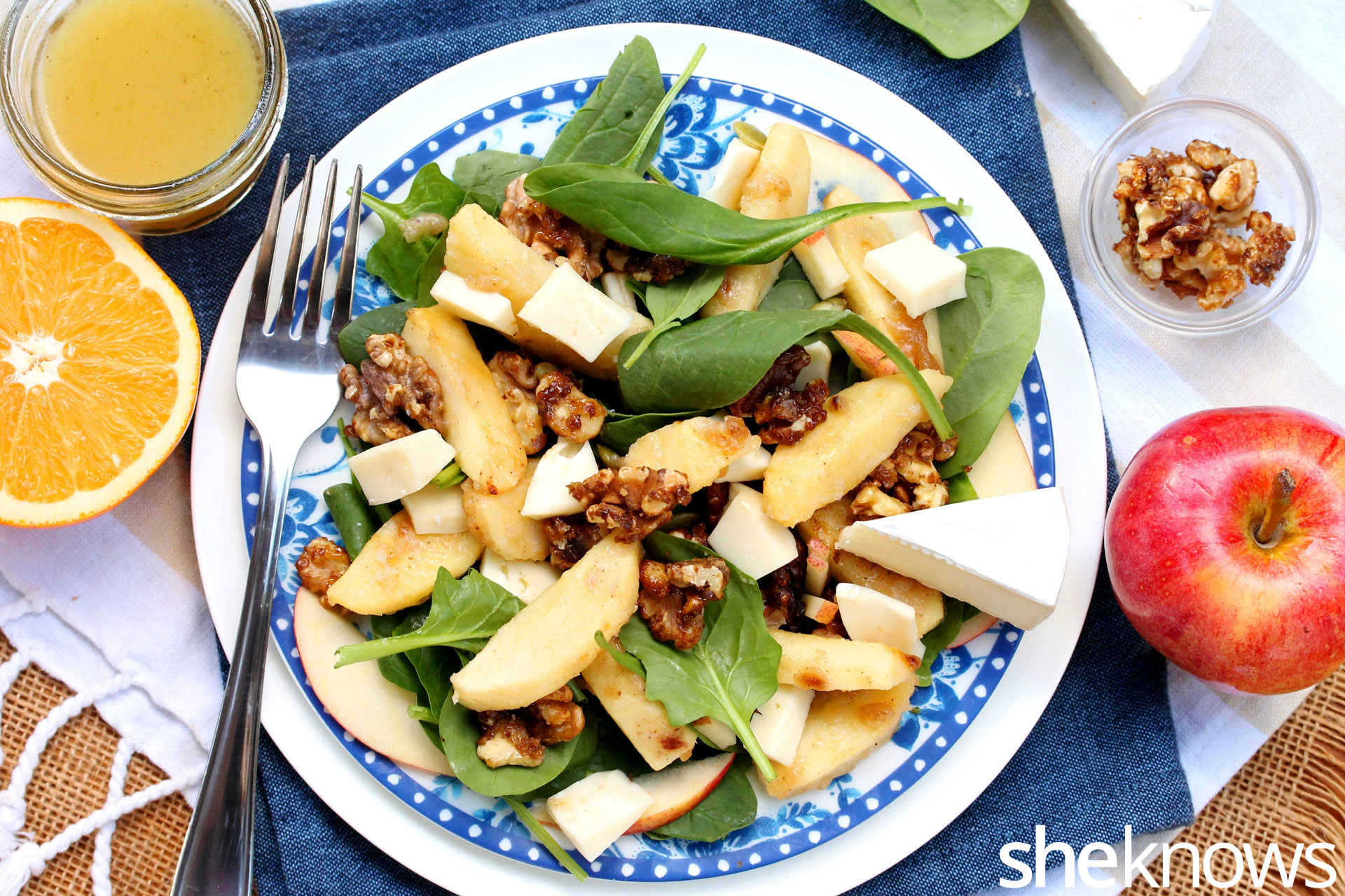 roasted-apple-walnut-salad