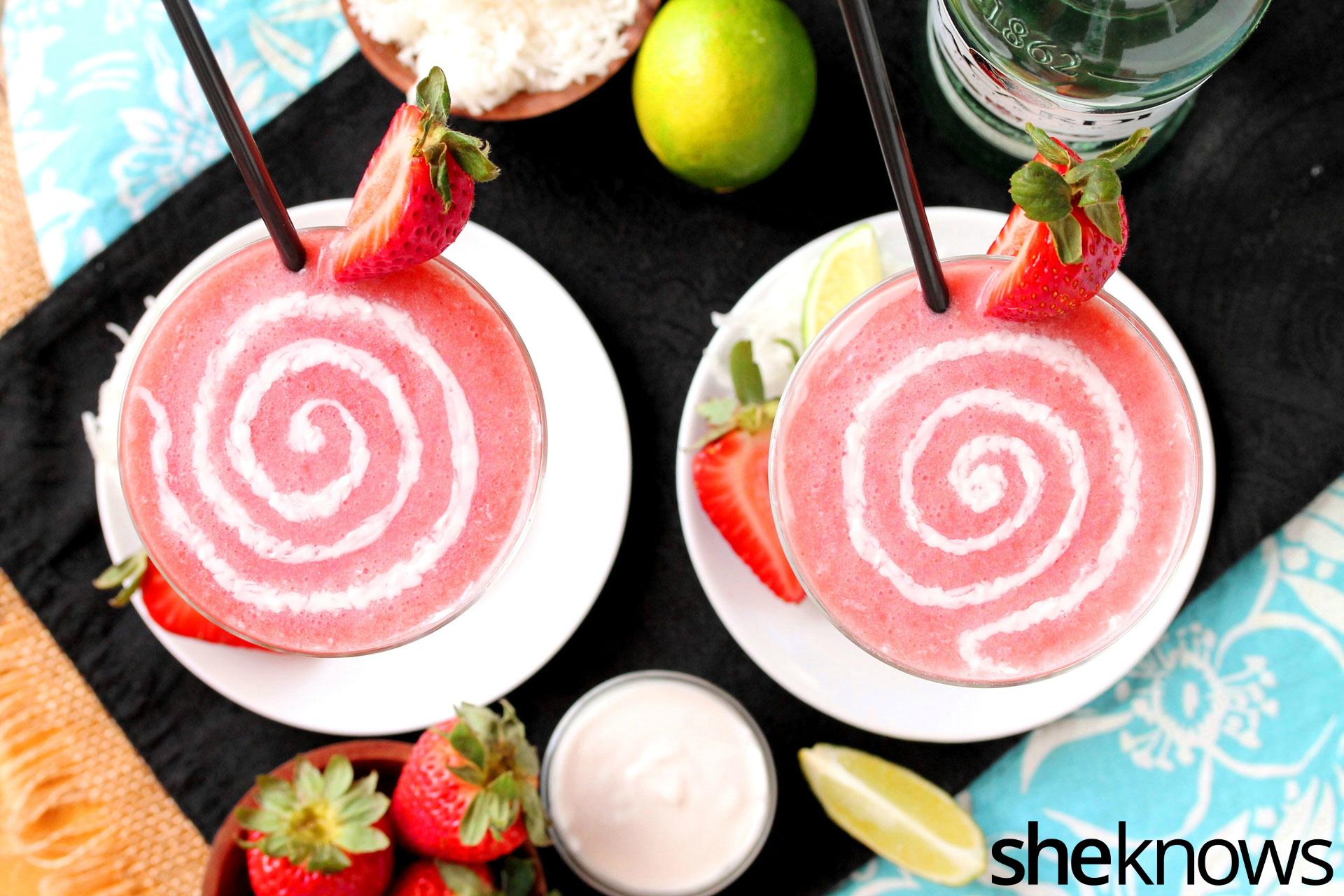 strawberry swirl daiquiri