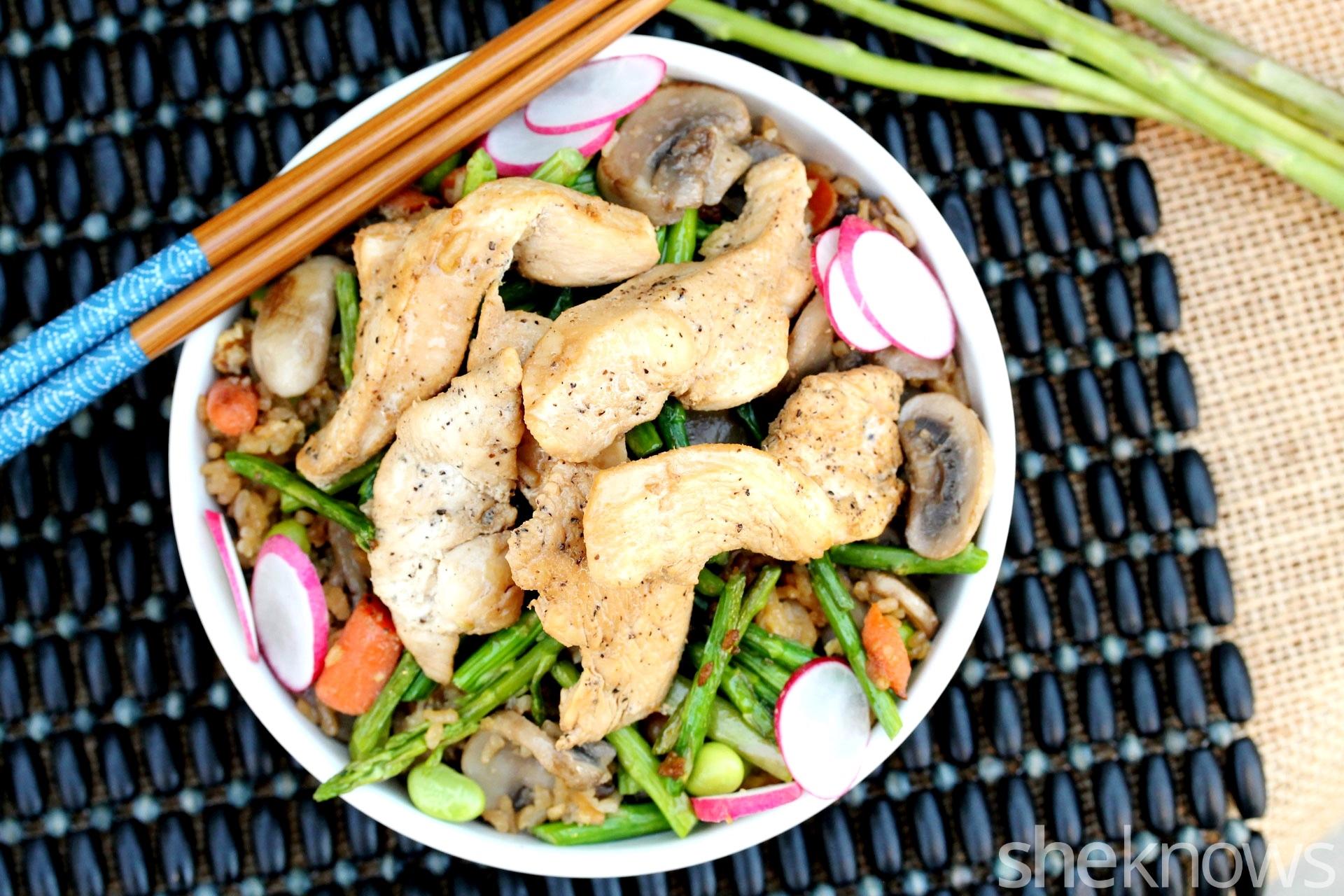 2 stir fried rice with chicken