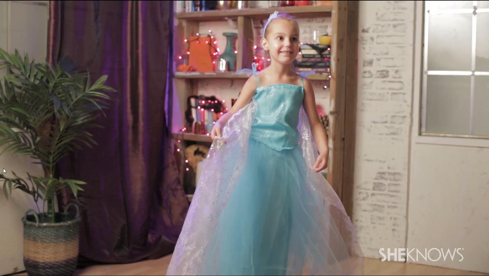 DIY Elsa Frozen costume tutorial