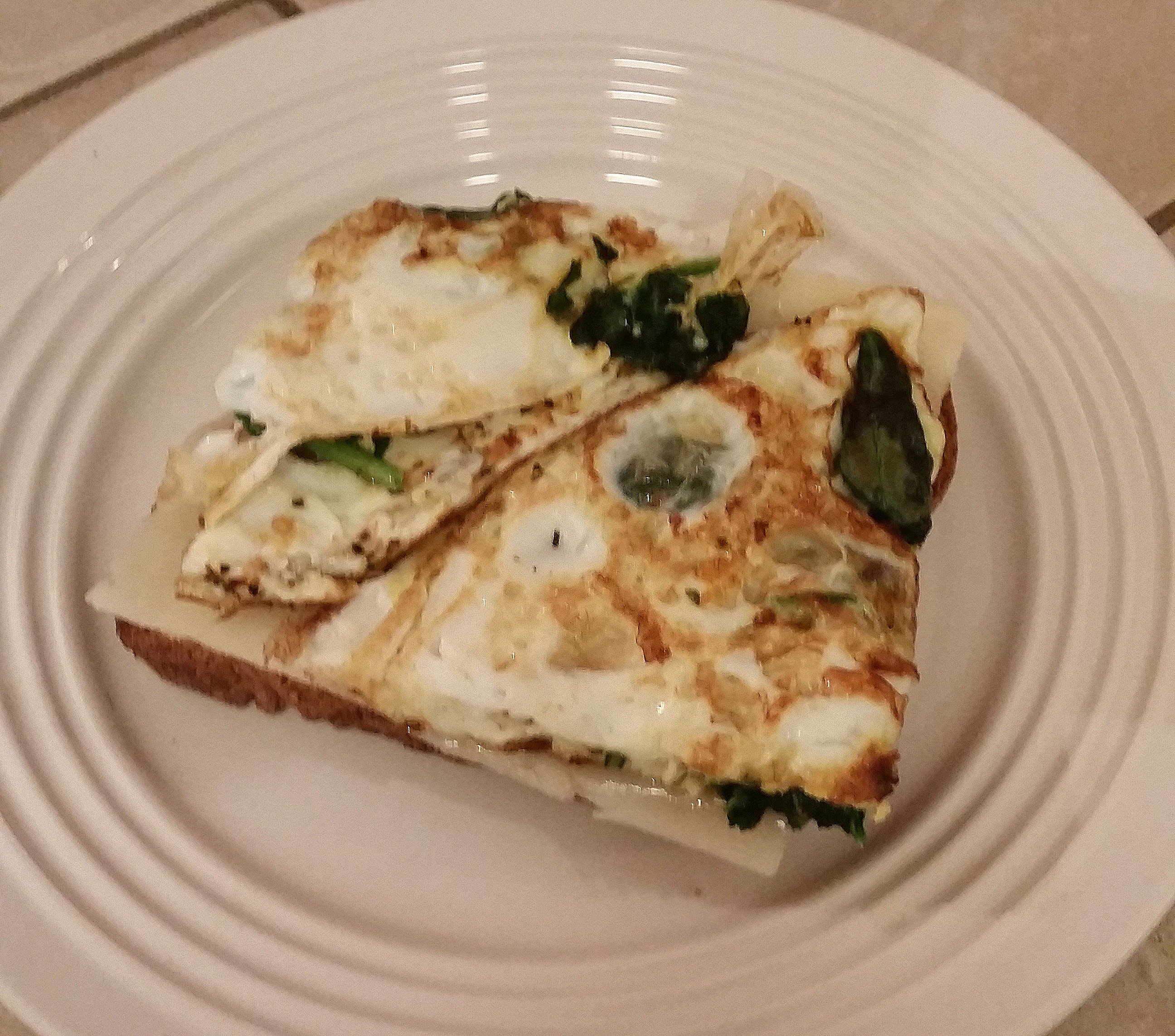 egg white omelette with cheese on toast