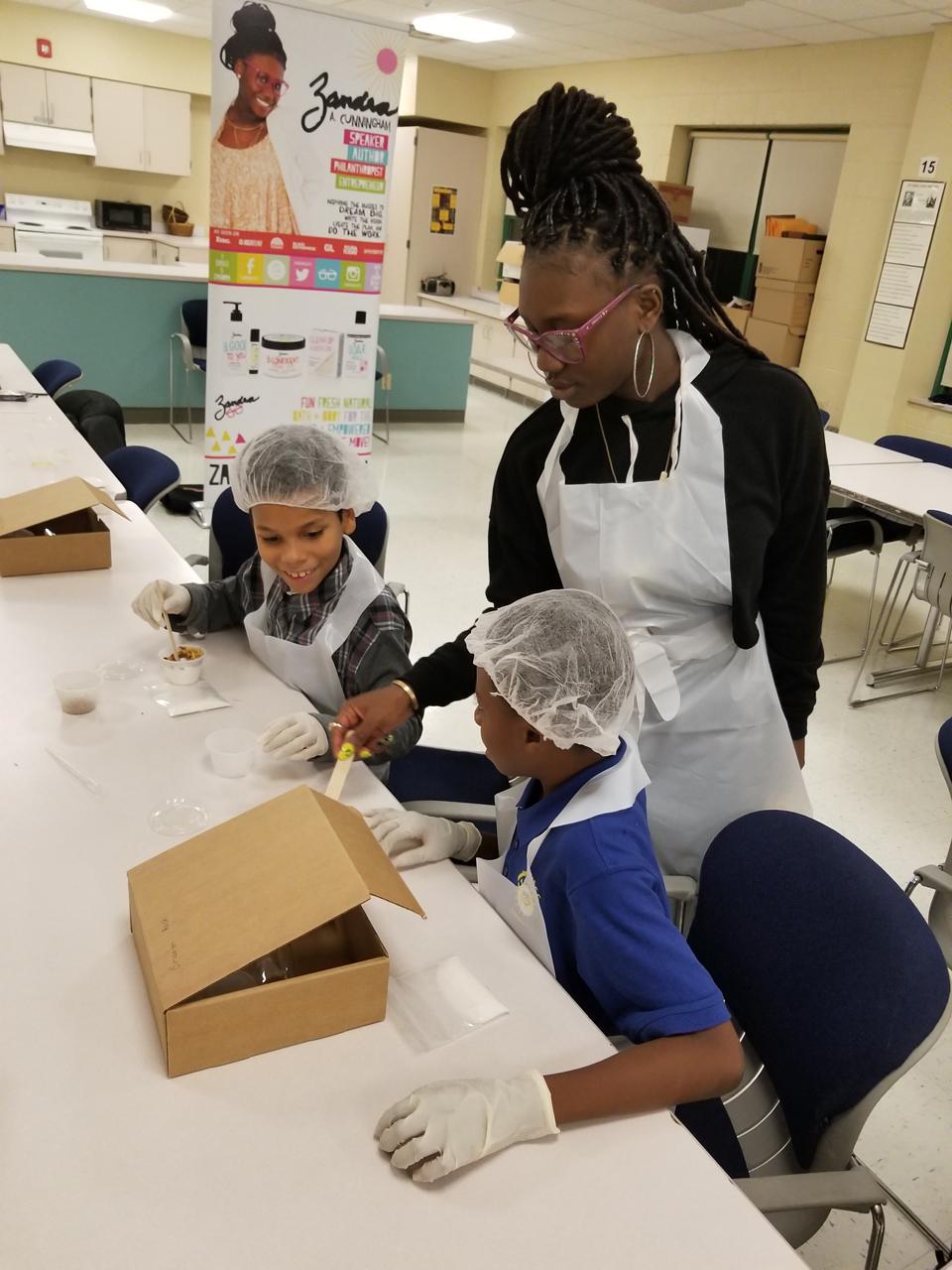 Raising Tiny Business Moguls: Shai teaching other kids