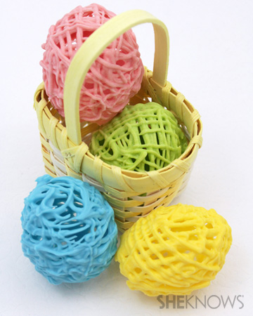 Hollow chocolate Easter eggs