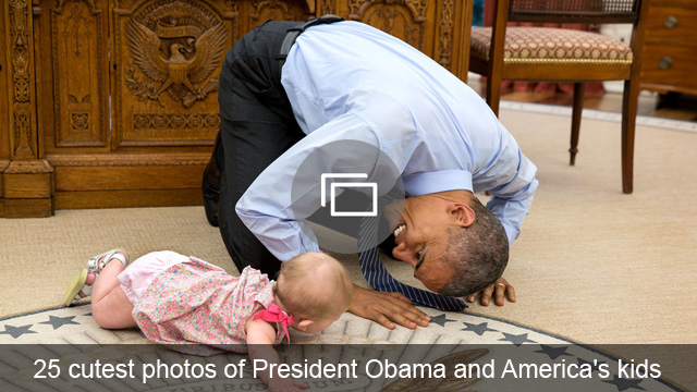 25 cutest photos of President Obama and America's kids