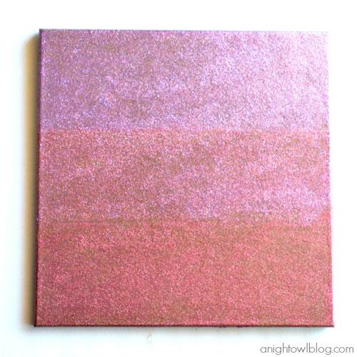 Ombre glitter corkboard