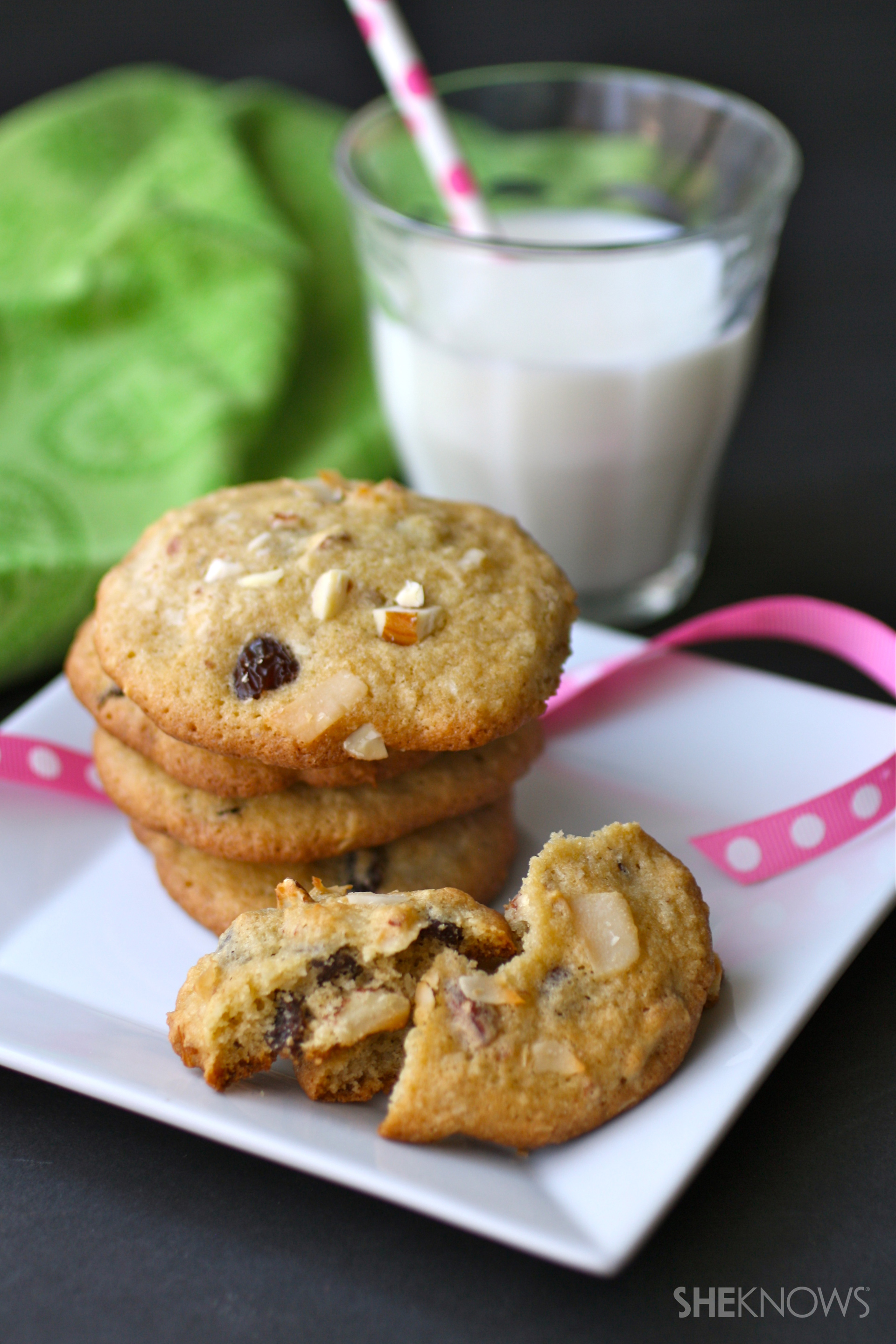 Gluten-free coconut-almond raisin cookies