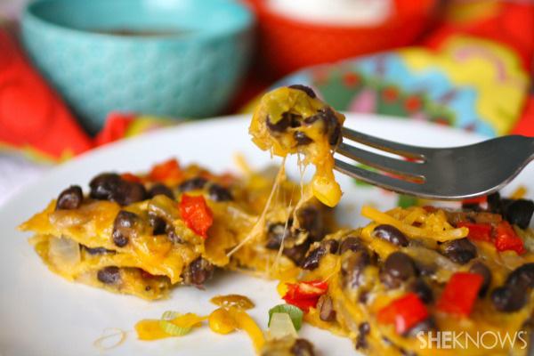 "Gluten-free Mexican ""lasagna"""