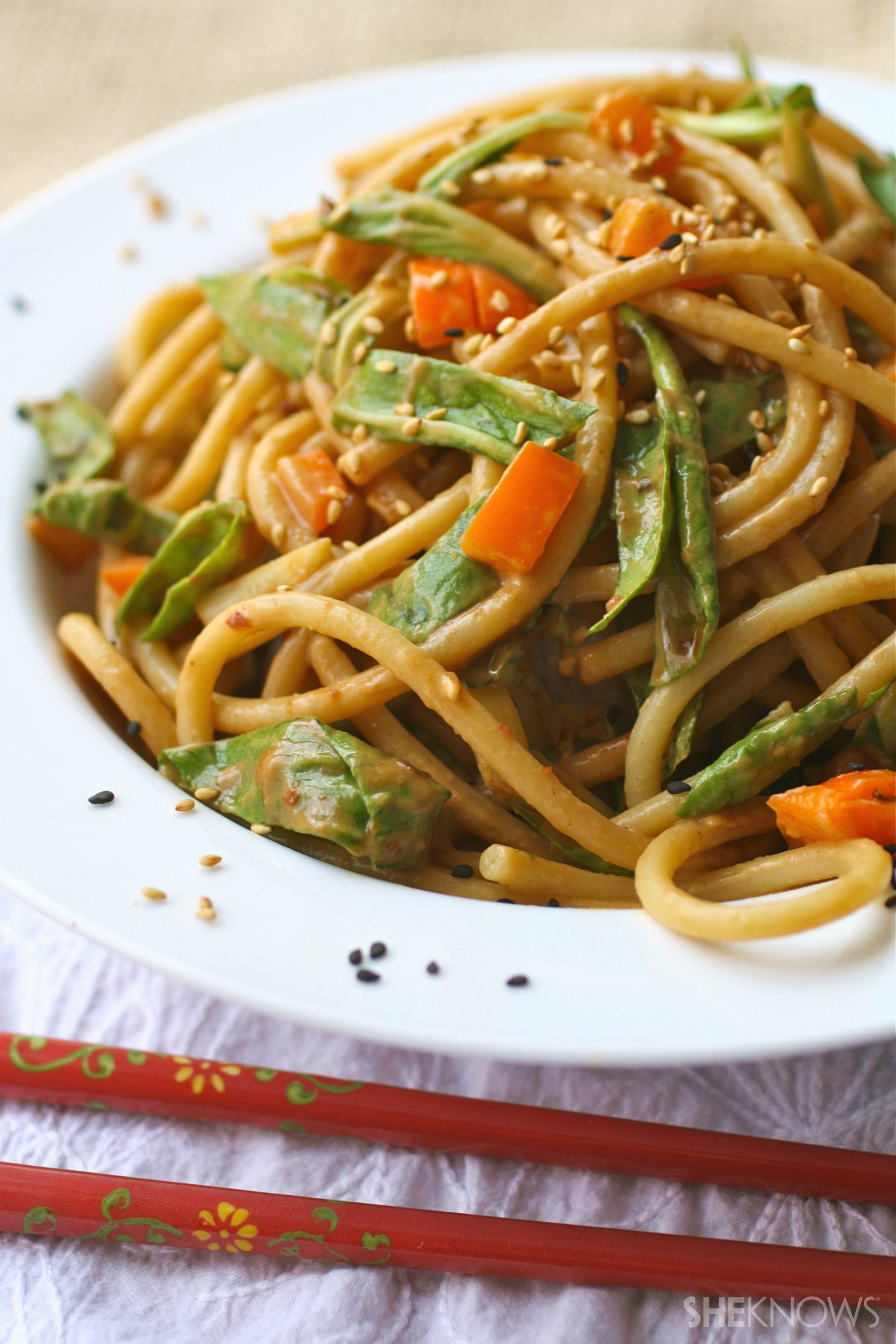 noodle salad with bok choy