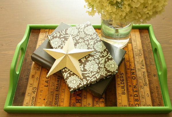 Old tray decorated