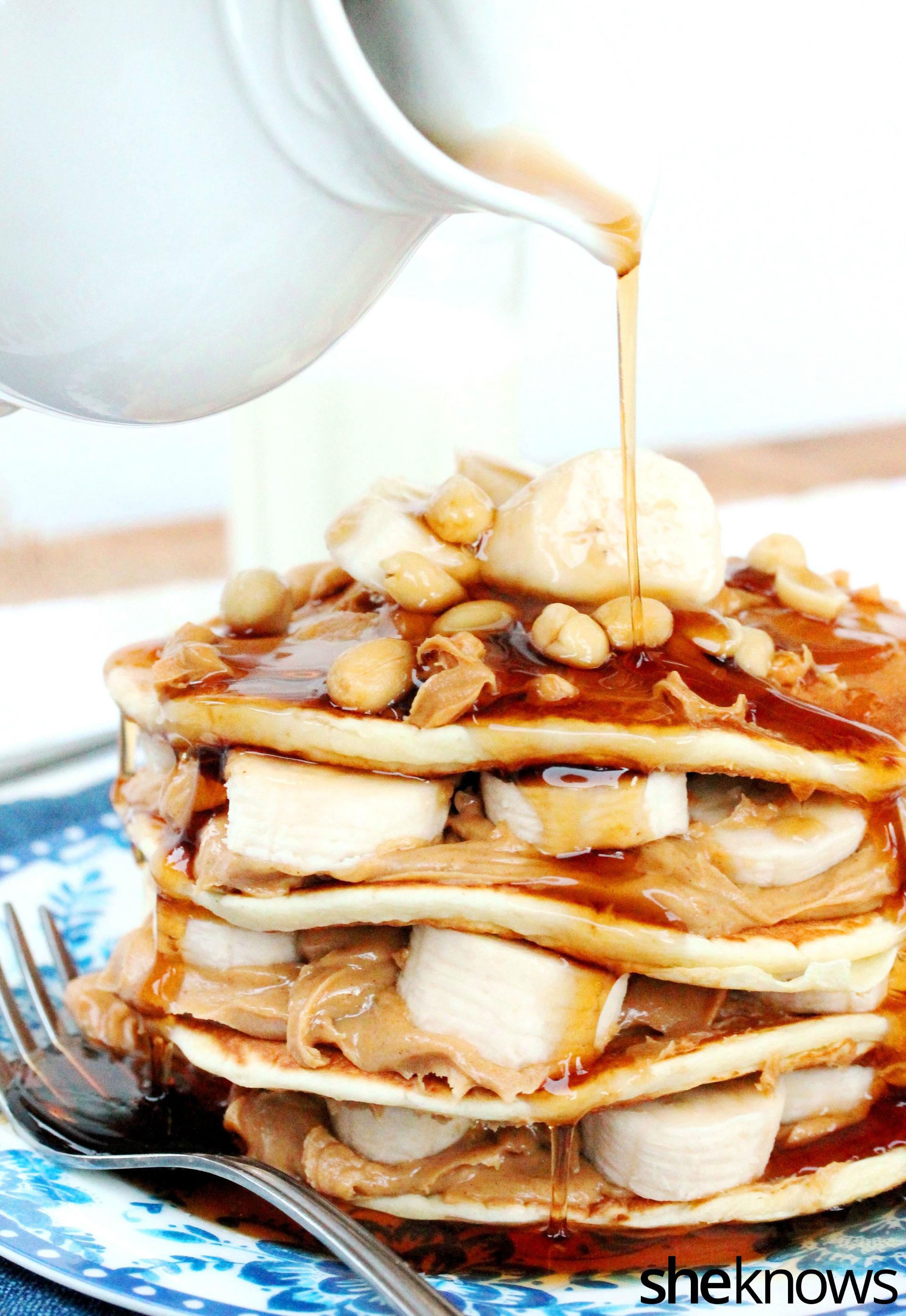 3 peanut butter banana pancake cake