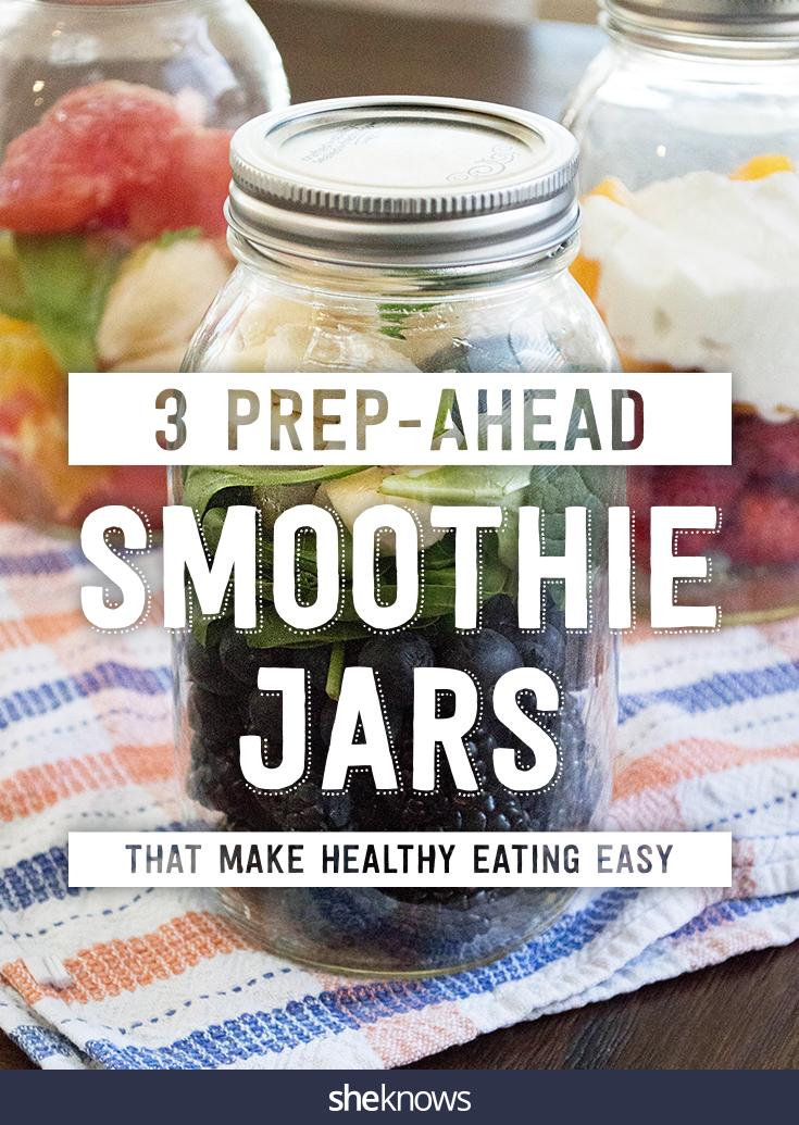 make-ahead smoothie jars