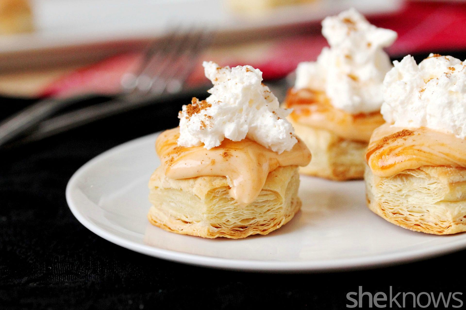 3 Pumpkin cheese pie puffs