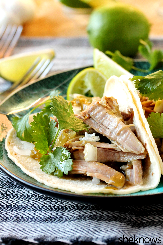 green-chili-shredded-pork-taco