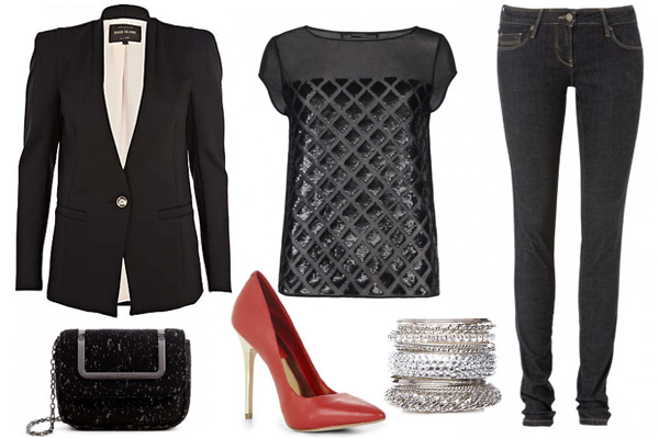 How to wear a blazer for a girls' night out