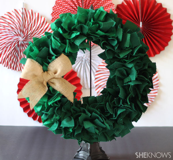 Felt-and-wire wreath