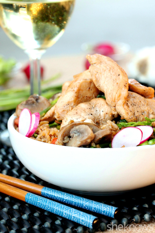 3 stir fried rice with chicken